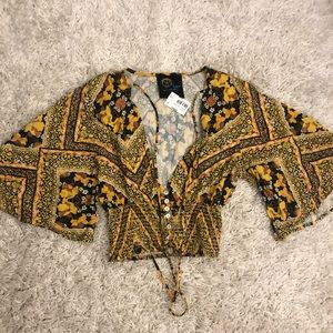 Small Blue Life Blouse! New with tags! never worn